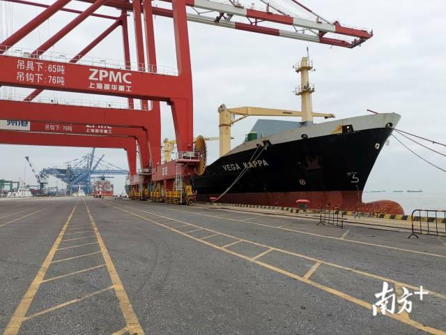 """3月24日,""""德翔卡帕""""轮顺利挂靠广州港南沙集装箱三期码头"""