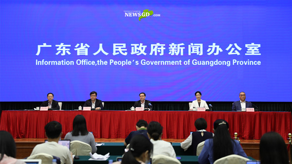 The 47th press conference on Guangdong's fight against COVID-19 was held in Guangzhou today. (Photo: Cao Yaqin)